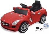 KinderCar Elektrische auto Mercedes Benz SLS AMG rood 6 V met afstandsbediening