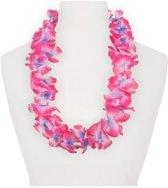 6x Hawaii slinger roze/paars