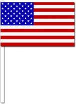 50 Amerikaanse zwaaivlaggetjes 12 x 24 cm