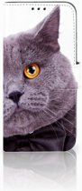 Honor 10 Lite Uniek Boekhoesje Kat
