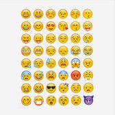 2x 48 Emoji stickers op een stickervel (Smilies) - NBH®