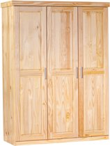 3 deurs kledingast PELLE in massief grenen, natuur kleur