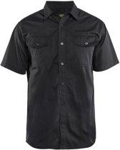 Blåkläder 3296-1190 Overhemd korte mouw Zwart maat XXXL
