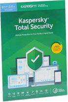 Kaspersky Total Security | 3 Apparaten | 2 Jaar | Engelse verpakking | Alle Europese talen