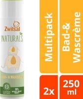 Zwitsal Naturals Bad- & wascreme - 2 x 250 ml -Voordeelverpakking