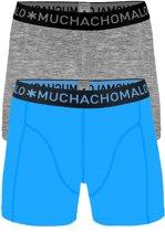 Muchachomalo boxershorts 2-pack - blauw en grijs -  Maat M