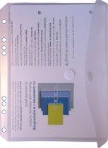 EXXO-HFP #35061 - A5 Ringband Documententas - Kleurloos - 30 stuks (3 pakken @ 10 stuks)
