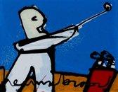 Herman Brood Schilderij Zeefdruk 'Golfer'