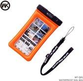 Waterdichte Telefoon Hoes / Waterproof Bag / Case / Pouch - Universeel - Geschikt voor Alle Smartphones - tot 6 Inch - functies onderwater beschikbaar - Volledig Transparant - iPhone / Samsung / Huawei - Oranje