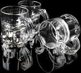 Kunststof shotglaasjes transparant - 2 cl - 25 stuks