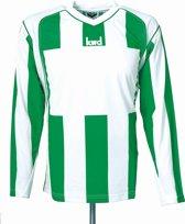 KWD Sportshirt Napels lange mouw - Groen/wit - Maat L