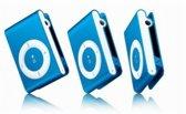 Mini MP3 speler met in-ear koptelefoon Blauw