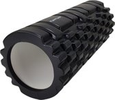 Tunturi Yoga Grid Foam Roller Massage - Fitness Roller - Triggerpoint massage - 33cm - Zwart