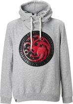 Game-of-Thrones-Sweatshirt-met-capuchon-grijs - Maat XXL