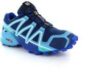 Salomon Speedcross 4 GTX Hardloopschoenen Dames blauw Maat 38