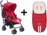 MINI by Easywalker - Buggy - Fireball Red + Gratis Originele Voetenzak Easywalker Fireball Red