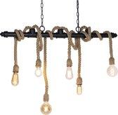 QAZQA plural hl - Hanglamp - 6 lichts - L 1020 mm - Zwart