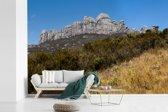 Fotobehang vinyl - Uitzicht op de mooie bergen van het Nationaal park Andringitra breedte 420 cm x hoogte 280 cm - Foto print op behang (in 7 formaten beschikbaar)