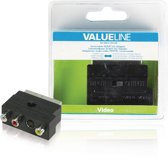 SCART Adapter Switchable SCART Male - S-Video Female + 3x RCA Female Black