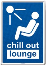 Metal card chill out lounge -10x14cm-