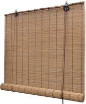Rolgordijn 140x220 cm bamboe bruin