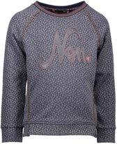 NONO Meisjes sweaters NONO KyliaB jacquard knit sweater with pi grijs 146/152