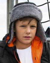 Kinder Trapper winter muts zwart