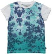 Minymo - jongens t-shirt - dip dye -blauw