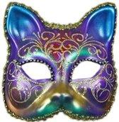 Venetiaanse regenboog kat masker