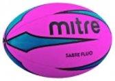 Rugbybal Mitre Sabre Fluo - Roze/Blauw - Maat 5