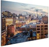Lower Manhattan Aluminium 90x60 cm - Foto print op Aluminium (metaal wanddecoratie)