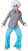 Jaren 70 disco overhemd voor heren 48-50 (s/m)