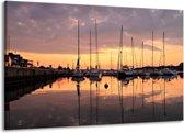 Canvas schilderij Boot   Geel, Zwart, Grijs   140x90cm 1Luik