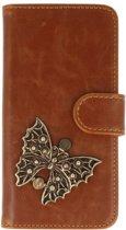 Sony Xperia XZ Premium bruin hoesje vlinder brons