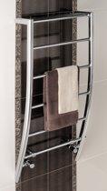 Handdoekradiator multirail corinium staal chroom 120x60cm 253 watt - Eastbrook Biava