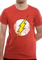 The Flash Distressed Logo TShirt XL