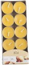 Geur theelichtjes mango geel 10 stuks - waxinelichtjes / geurkaarsen