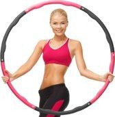 Weight Hoop Original - Fitness hoelahoep - met DVD - 1.2 kg - Ø 100 cm - Roze/Zwart