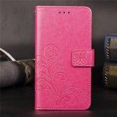 Mobigear Bloemen Wallet Case Roze Nokia 8.1