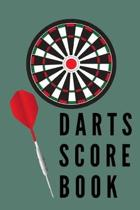 Darts Score Card: Notebook, Greggs shorthand Paper 120 pages, white interior, 6x9, hardy Matte cover. Enjoy a Game.
