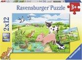 Ravensburger Jonge dieren op het platteland Twee puzzels van 12 stukjes