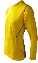 KWD Sportshirt Mundo lange mouw - Geel/zwart - Maat XL