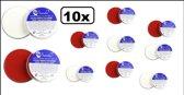 10x Superstar Rood/Wit 16 gram Voordeel verpakking