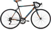 """Ks Cycling Racefiets 28"""" racefiets Piccadilly zwart-oranje met 14 versnellingen -"""