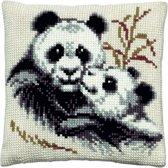 kruissteekkussen 003.091 panda met jong