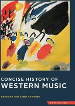 Concise History of Western Music Fifth Edition