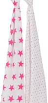 Aden + Anais Swaddle 2-Pack Fluor Pink