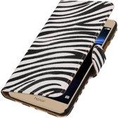 Zebra booktype wallet cover hoesje voor Huawei Honor V8
