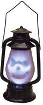 Horror versiering lantaarn met doodshoofd