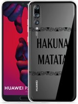 Huawei P20 Pro Hoesje Hakuna Matata black